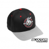 Cap Scooter Tuning Snapback Curved Type 4 (Red)