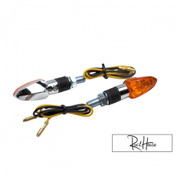 (2X) Indicators Replay Mini Arrow Orange / Chrome