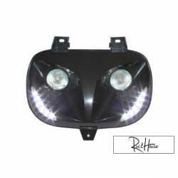 Twin headlights Replay Led Black Bws'r-Zuma 88-01