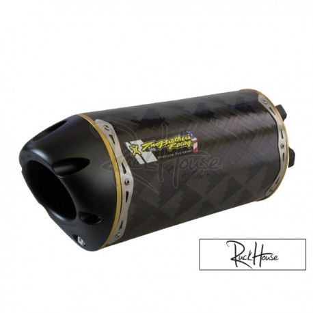 Exhaust Two Brothers Racing Carbon GY6 14'' 125-180cc