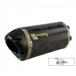 Exhaust Two Brothers Racing Carbon 10'' GY6 125-180cc