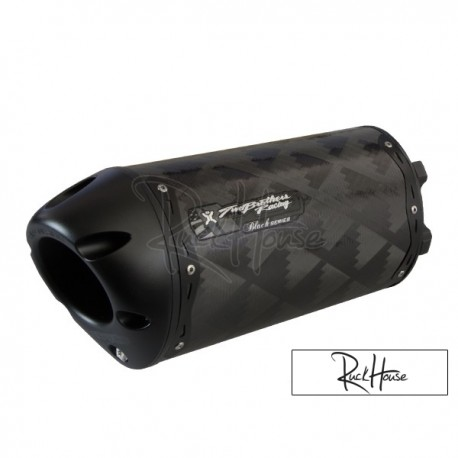 Exhaust Two Brothers Racing Carbon Black 10'' GY6 125-180cc