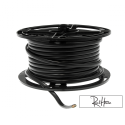 Wire 2x1.5mm (15GA) Black (1M)