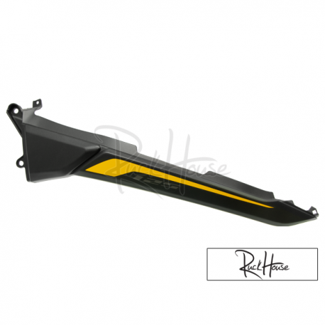 Rear Left Shroud Black with Yellow Decals (Honda Grom 2014-2016)