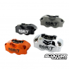 Brake caliper Stage6 R/T, front, forged, CNC-machined, chrome-plated ,