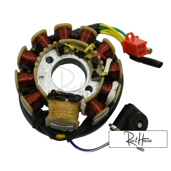 TZ-45A C100-6 Stator Magneto Coil AC GY6 Parts Chinese Scooter Motorcycle 152QMI 157QMJ Engine Spare