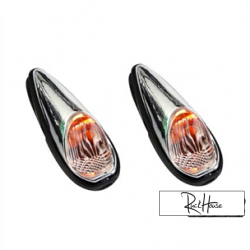 (2X) Indicator Light Tun'r Raindrop Basic Chrome