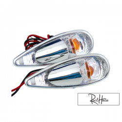 (2X) Indicator Light Tun'r Raindrop Double Chrome