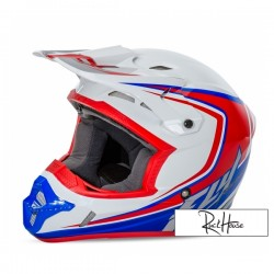 Helmet Fly Kinetic Full Speed White/Red/Blue