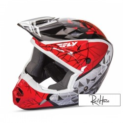 Helmet Fly Kinetic Crux Red/Black/White