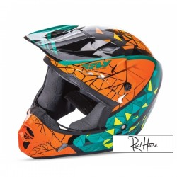 Helmet Fly Kinetic Crux Teal/Orange/Black