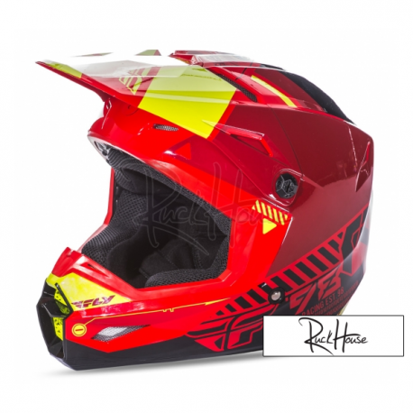 Helmet Fly Kinetic Elite Onset Red/Black/Hi-Viz