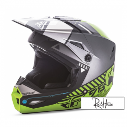 Helmet Fly Kinetic Elite Onset Black/Grey/Hi-Viz