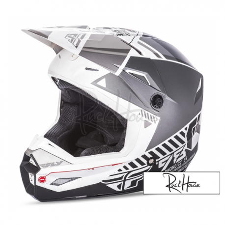 Helmet Fly Kinetic Elite Onset White/Grey