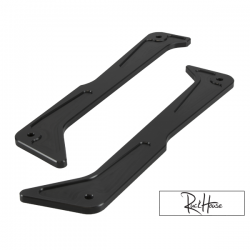 Billet Step Rails TRS Black Honda Ruckus